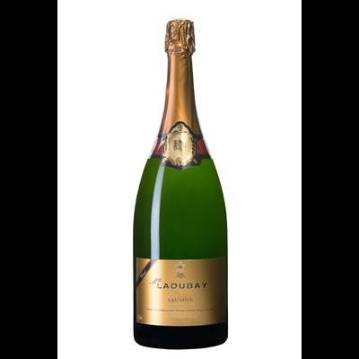 Vin blanc AOP brut Gold Saumur Mademoiselle Ladubay, bouteille 1,5 litre