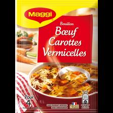 """Potage boeuf, carottes et vermicelles déshydraté """"Saveurs à l'Ancienne"""" MAGGI, 50g, 1l"""
