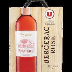 Vin rosé AOC Bergerac Fonsecoste U, fontaine à vin de 3l