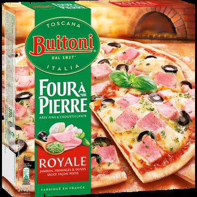 Pizza régina surgelée four à pierre BUITONI, boîte de 370g