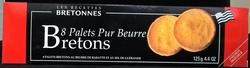 Palet nature au beurre de baratte et au sel de Guérande LE DREAN, étuide 125g