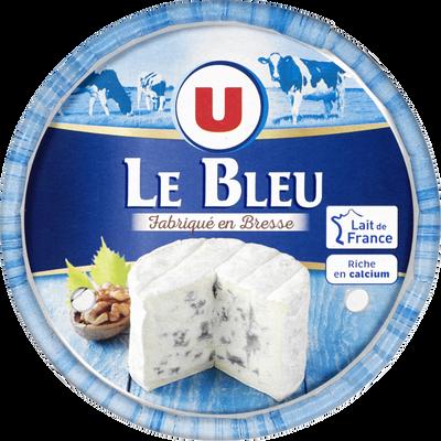 Fromage pasteurisé à pâte persillée Le Bleu 33% de MG U,  250g