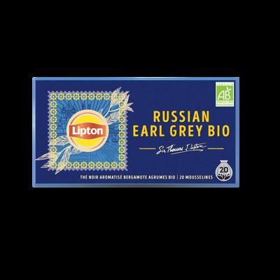 Thé noir aromatisé bergamote agrumes LIPTON 34g