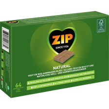 Allume feu naturel ZIP, 64 cubes, 400g