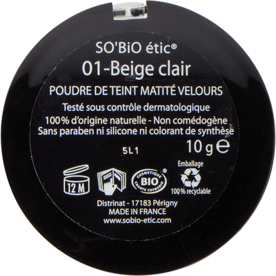 Poudre de teint matité velours - 01 beige clair - Sans étui