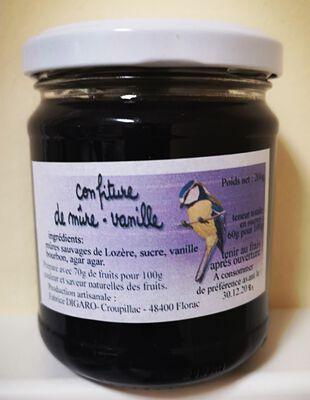 Confiture de mûre à la vanille, 200g