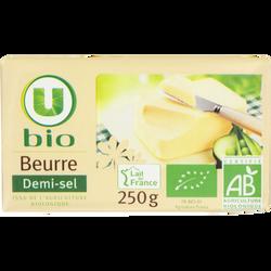 Beurre demi sel bio U BIO, 80%mg, 250g