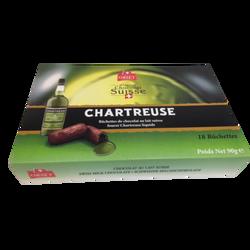 Buchettes de chocolat au lait fourrées Chartreuse liquide ORSET, étuis 90g