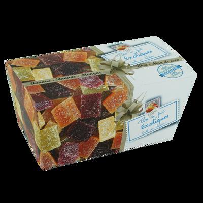 Ballotin de pâtes de fruits exotiques cuites au chaudron LUCIEN GEORGELIN, 300g