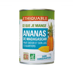 Ananas entier et son jus Madagascar BIO ETHIQUABLE 410g