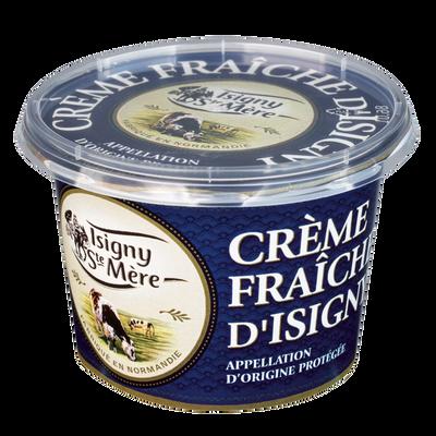 Crème fraîche AOP ISIGNY STE MERE, 35% de MG, pot en plastique de 20cl