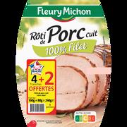 Fleury Michon Rôti De Porc Supérieur Traité En Salaison Fleury Michon, 4 Tranches+2offertes Soit 240g