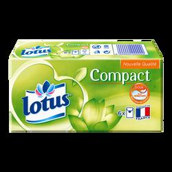Mouchoirs compact LOTUS, 6 étuis
