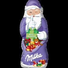 Père Noël chocolat au lait avec noisettes MILKA, 100g