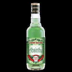 Liqueur d'absinthe verte CHERRY ROCHER, 55°, 70cl