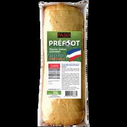 Préfoot pain précuit tranché garni de camembert fondu et de jambon cuit PASO, 350g