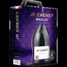 Vin rouge IGP Pays d'OC Merlot J.P CHENET, fontaine a vin de 3l