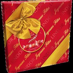 Boîte cadeau Lindor bouchées de chocolat au lait LINDT, 287g