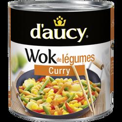 Wok de légumes curry D'AUCY, boîte de 290g