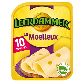 Leerdammer Fromage En Tranches Leerdammer Le Moelleux 10 Tranches, 250g