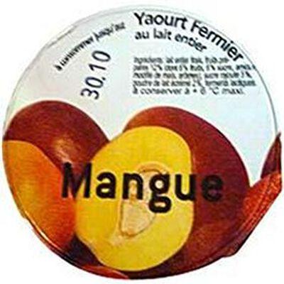 Yaourt fermier au lait entier à la mangue LA FERME DE CORLY, 180g
