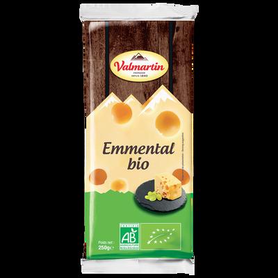 Emmental bio au lait pasteurisé VALMARTIN, 29%MG, portion 220g