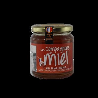 Miel de fleurs sauvages des campagnes comtoises COMPAGNONS DU MIEL, 375g