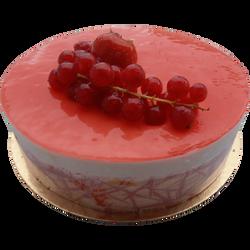 Bavarois vanille fruits rouges, 6 parts, 600g