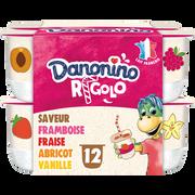 Danone Yaourt Aromatisé Aux Fruits Avec Paille Rigolo Danonino, 12x125g