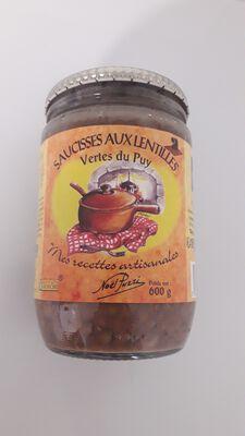 Saucisse aux lentilles vertes du Puy, Noël Puzzi  600GR