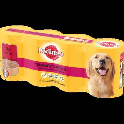 Aliment pour chien Morceaux Choisis au boeuf PEDIGREE, 4x410g