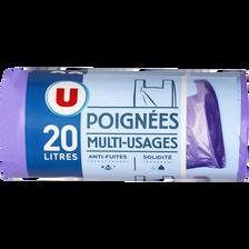 Sacs poubelle multi-usages U, 20l, x20