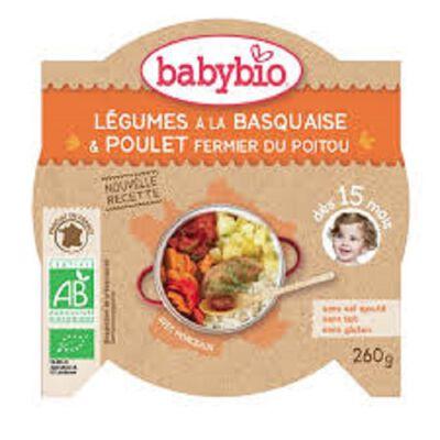 Ass Légumes basquaise Poulet BABYBIO dès 15 mois 260g