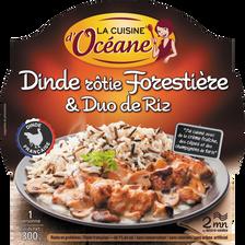 Dinde forestière et duo de riz LA CUISINE D'OCEANE, barquette micro-ondable de 300g