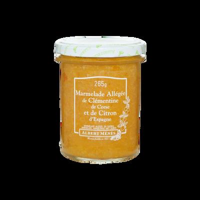 Marmelade allégée de clémentine de Corse et de citron ALBERT MENES,265g