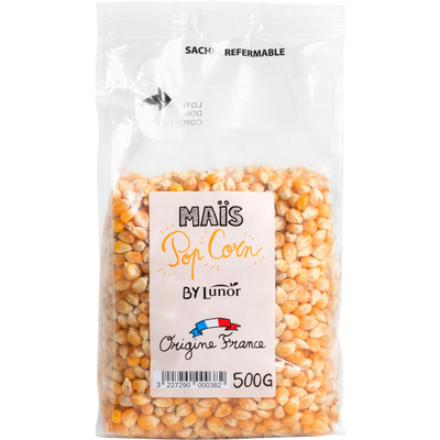 Mais pop corn, LUNOR, sachet 500g