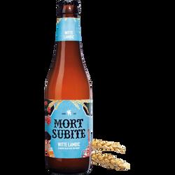 Bière  Witte Lambic MORT SUBITE, 5,5°, bouteille de 33cl