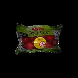 Radis rond rouge équeuté, France, sachet 250g + 10 % offert