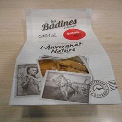 Biscuits salés au cantal  les badines d'Auvergne  artisan biscuitier 140g