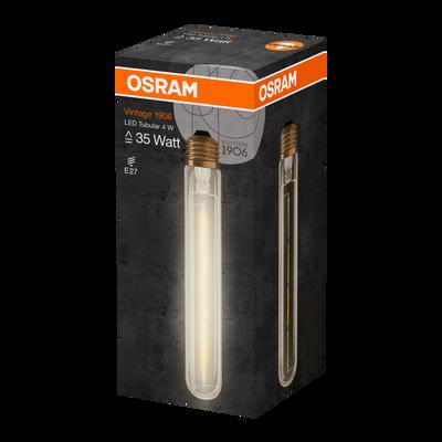 Ampoule led OSRAM, tube 35W E27, verre filament clair or, lumière chaude