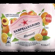 San Pellegrino San Pellegrino Momenti Clementine & Peach 6x33cl