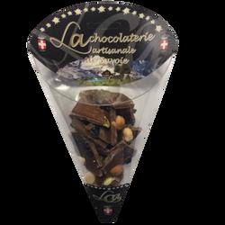 Cornet chocolat lait mendiant myrtille LA CHOCOLATERIE ARTISANALE, 100g