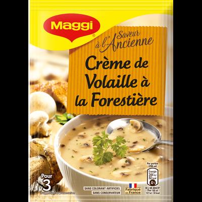 Saveur à l'ancienne soupe crème de volaille à la forestière MAGGI, paquet de 75cl