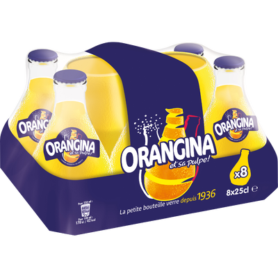 ORANGINA, 8 bouteilles de 25cl