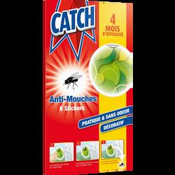 Stickers anti-mouches décoratifs verts CATCH, x6