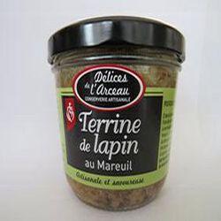 Terrine de lapin au Mareuil, 180gr, bocal, Délices de l'arceau