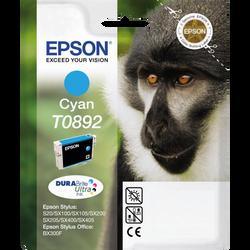 Cartouche d'encre EPSON pour imprimante, T0892 cyan Babouin, sous blister
