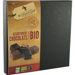 Assortiment chocolat bio prestige LES CHEVALIERS D'ARGOUGES, 155g