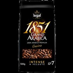 Café grains grand arabica intense 1851 LEGAL paquet 500g