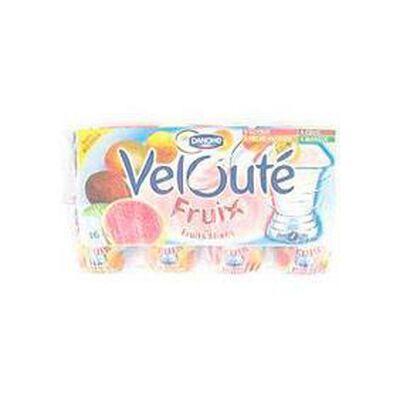 Yaourts brassés Velouté Fruix goyave, pêche-passion, coco et mangue DANONE, 16x125g